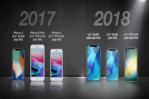 سه گوشی جدید اپل در سال ۲۰۱۸