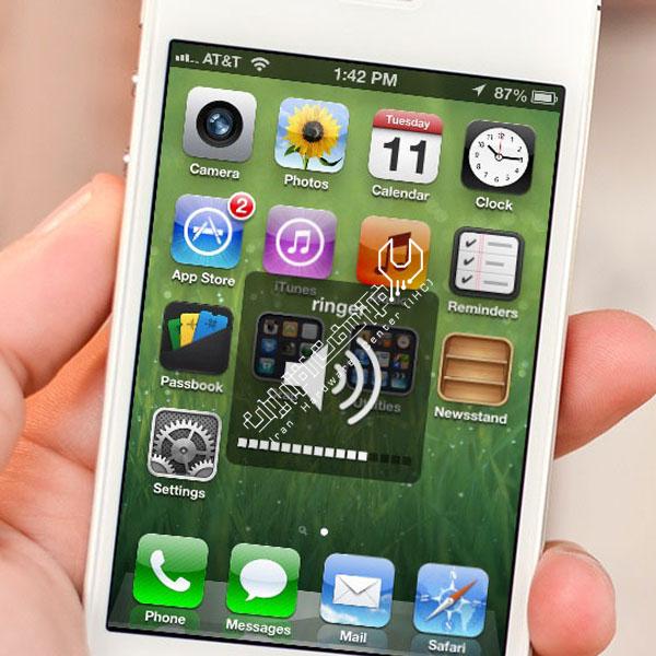 مشکل صدای گوشی اپل