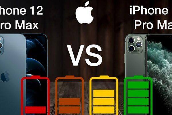 مقایسه باتری آیفون ۱۱ پرومکس با ۱۲ پرومکس